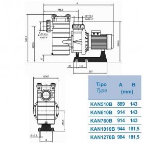 Насос KRIPSOL KAN 760 T2.B, 104,5 м3/ч, трехфазный