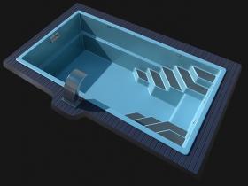 Стеклопластиковая чаша LAGOS Sol-6